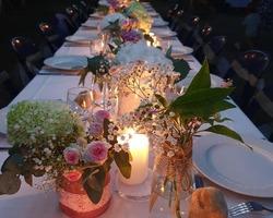 Tables et bougies -Gérald Animation-Mariage-